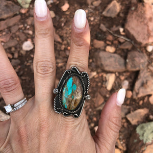Vintage Turquoise Ring-size 6 1/4