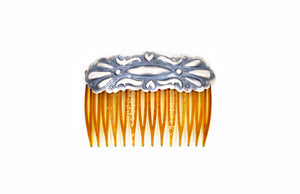 Tim Yazzie Sterling Silver Hair Comb