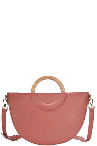 Stylish Semi Circle Modern Satchel With Long Strap - ThriftyJean