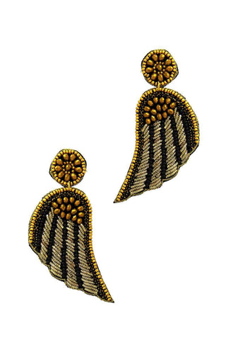 Fashion Modern Wing Patch Drop Earring - ThriftyJean