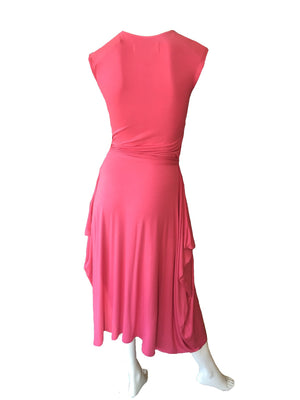 neisha, aeisha northcote pink navy cotton lycra dress cap sleeve
