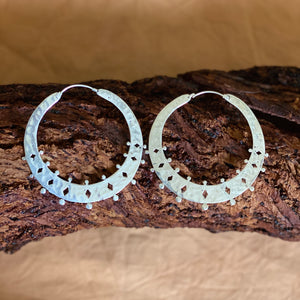 Rona Hoop Earrings - silver