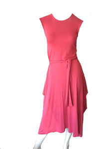 neisha, aeisha northcote pink cotton lycra dress cap sleeve