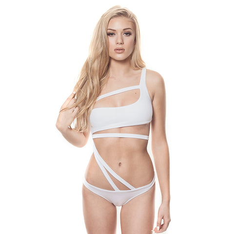 Strappy Cutout Surfer Babe Swimwear
