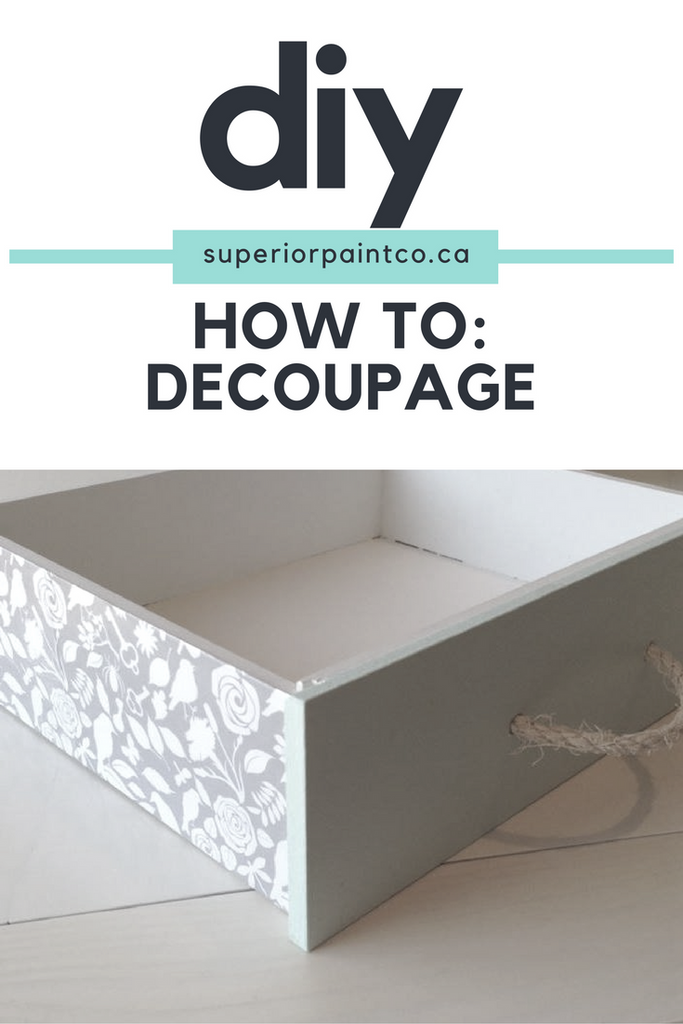 How To: Decoupage Furniture