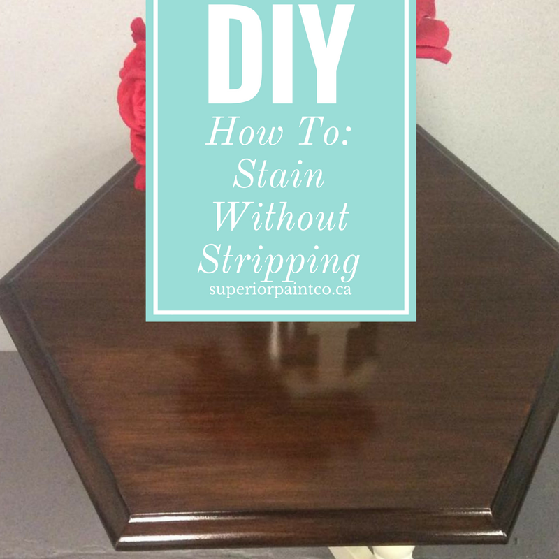 How To: Stain without Stripping using Saman Hybrid Stains