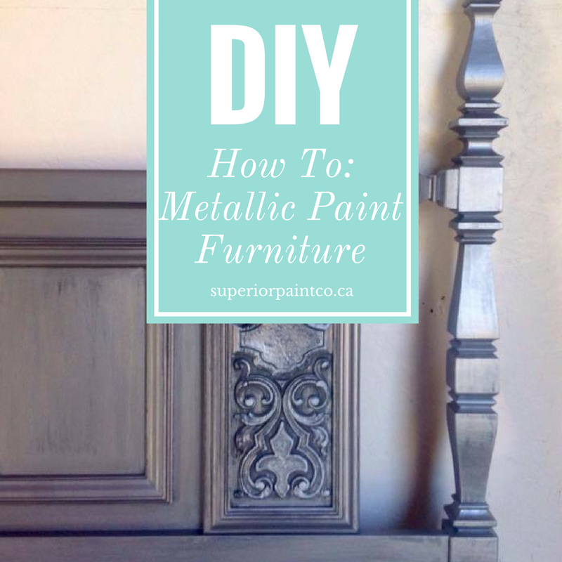 How To: Metallic Paint Furniture