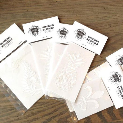 Superior Mylar Stencils by Superior Paint Co. for DIY projects, home decor and furntirue refinishing