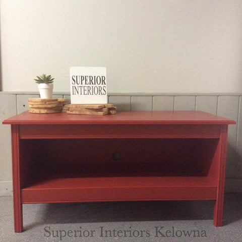 Custom built solid wood tv stand by Superior Interiors Kelowna