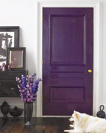 Chalk painted front door
