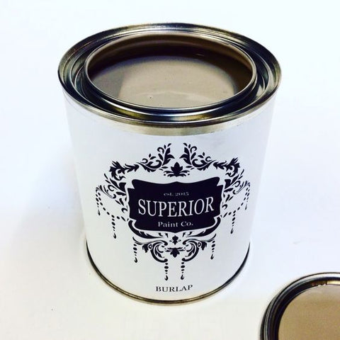 Superior Paint Co. Burlap Chalk Paint