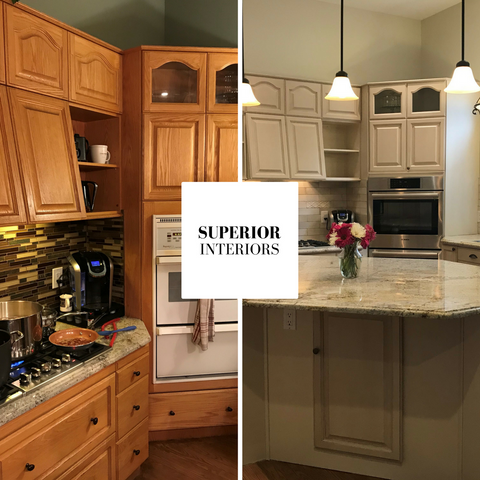 Peachland kitchen refacing by Superior Interiors Kelowna