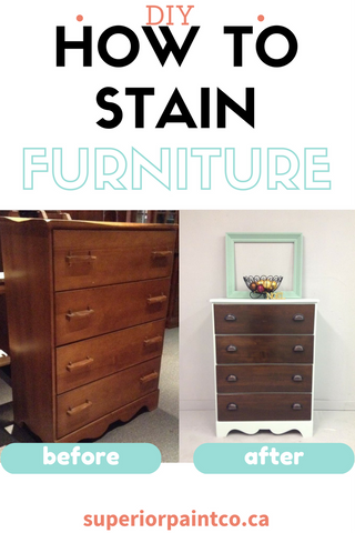 How to stain your furniture before and after