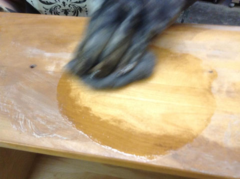 Stripping furniture with laquer thinner