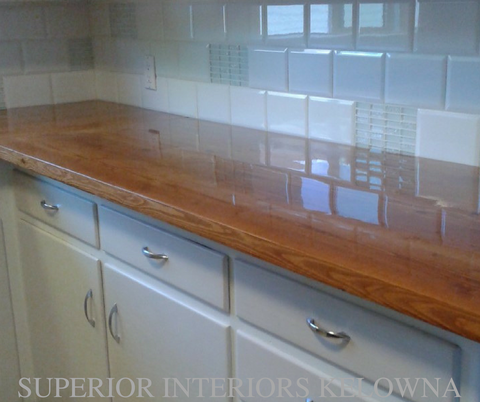 Custom built solid wood counters by Superior Interiors Kelowna