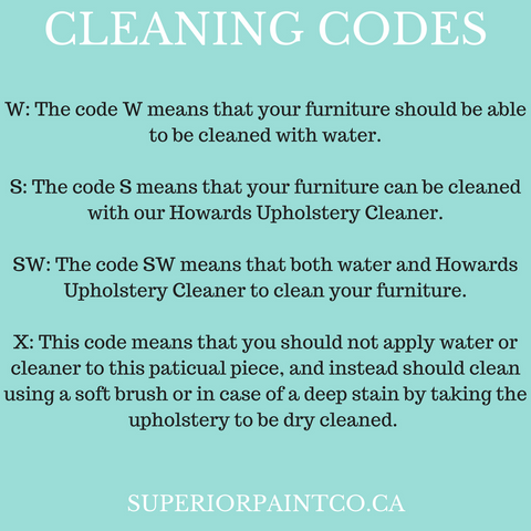 Superior Upholstery Cleaning Codes