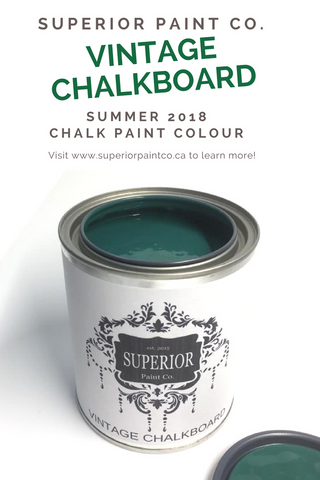 Vintage Chalkboard Superior Paint Co. Chalk Furntiure Paint