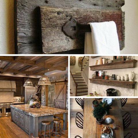 Barn Wood inspired interiors