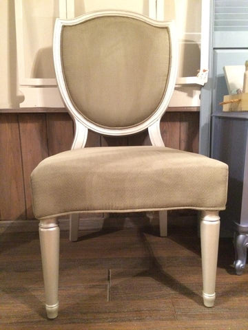 Burlap chalk painted upholstery