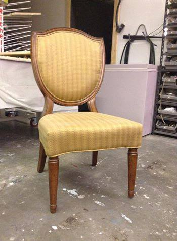 Before photo of accent chair
