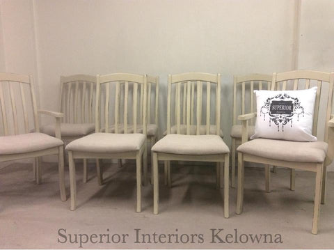 Kelowna furniture refinishing and custom upholstery by Superior Interiors Kelowna