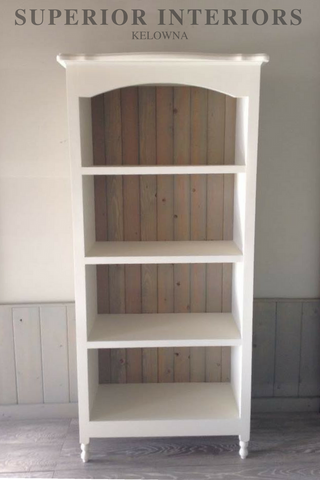 Solid wood custom built maple book shelf