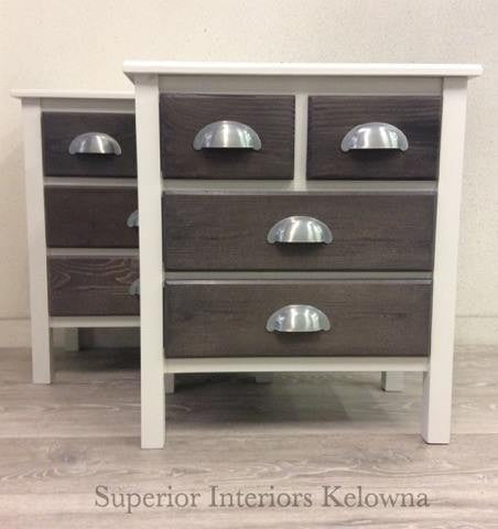 Custom built side tables from Superior Interiors Kelowna