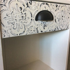 Raised stencil - embossing furniture