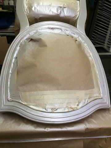 Oyster metallic painted chair base