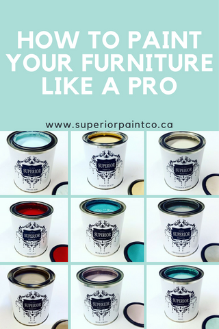 How to chalk paint your furniture by hand like a pro - By Superior Paint Co.