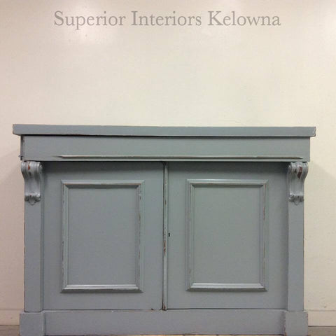 Galvanized Grey Buffet refinished by Superior Interiors Kelowna