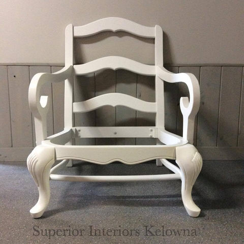 Custom furniture refinishing in Kelowna BC from Superior Interiors Kelowna using Superior Paint Co. Chalk Furniture Paints