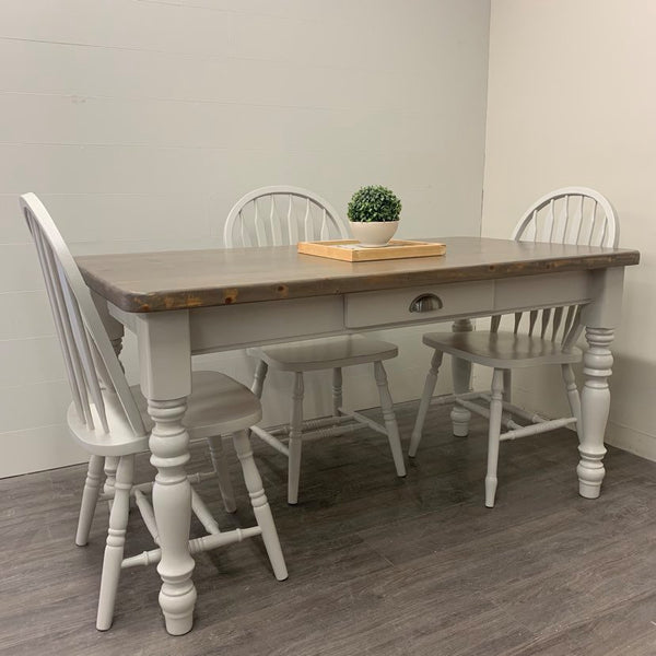 5 Piece Modern Farmhouse Dining Set