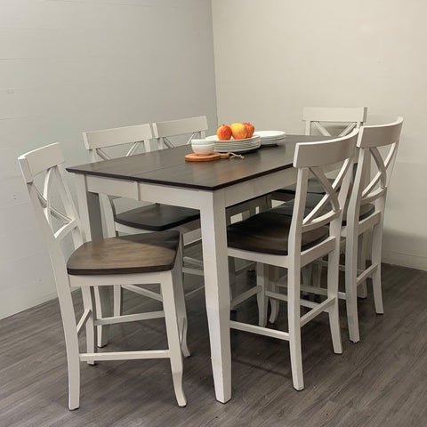 7 Piece Maple Counter Height Dining Set