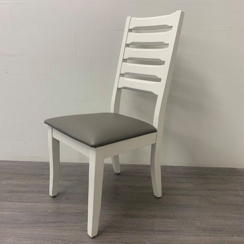 6 Little White Dining Chairs