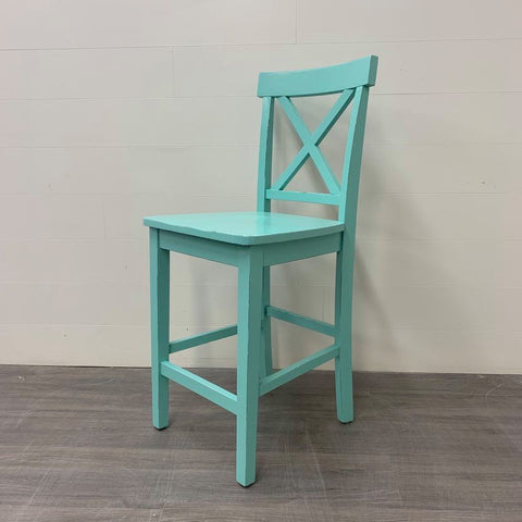 Aqua Counter Height Accent Stool