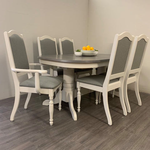 7 Piece Little White Dining Set