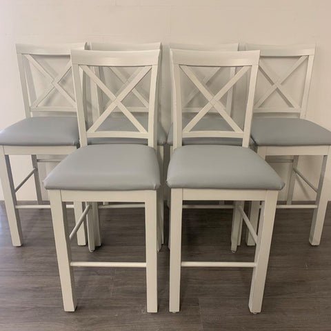 6 Shiplap Counter Height Bar Stools
