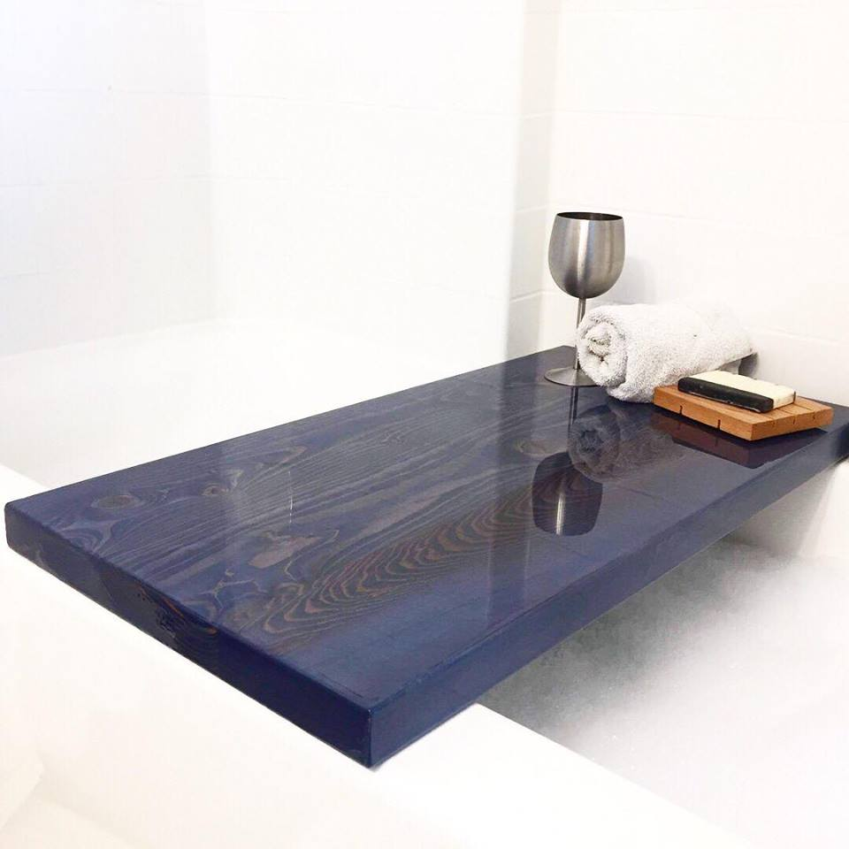 Douglas Fir Resin Bathtub Tables