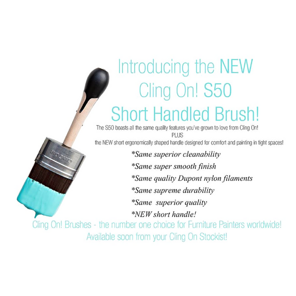 S50 Short Handle CLINGON! Furniture Paint Brush