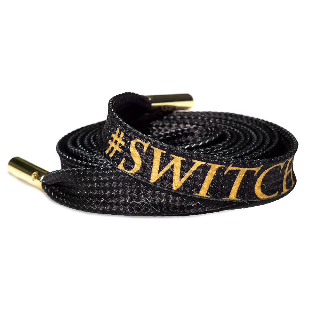 Switchmade X Lacorda Shoelace belt collaboration.
