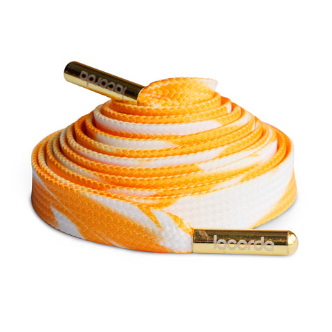 Lacorda Threads Orange Cream Shoelace Belt