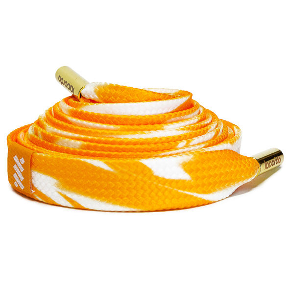 Orange Cream Shoelace Belt