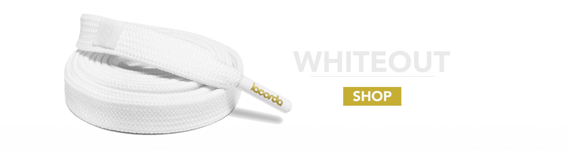 Whiteout Shoelace Belt