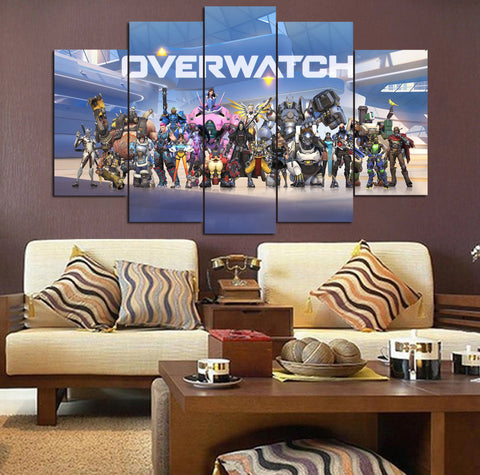 Blue Overwatch Poster