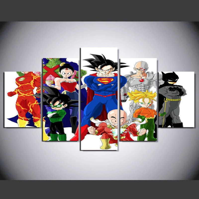Dragon ball z dc comic poster nerdsrusstore for Decoration murale dragon ball