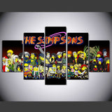Naruto And Simpsons Poster