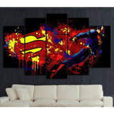 Superman Painting Poster