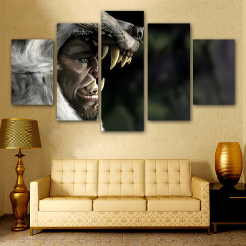 WoW Orc Wolf Poster