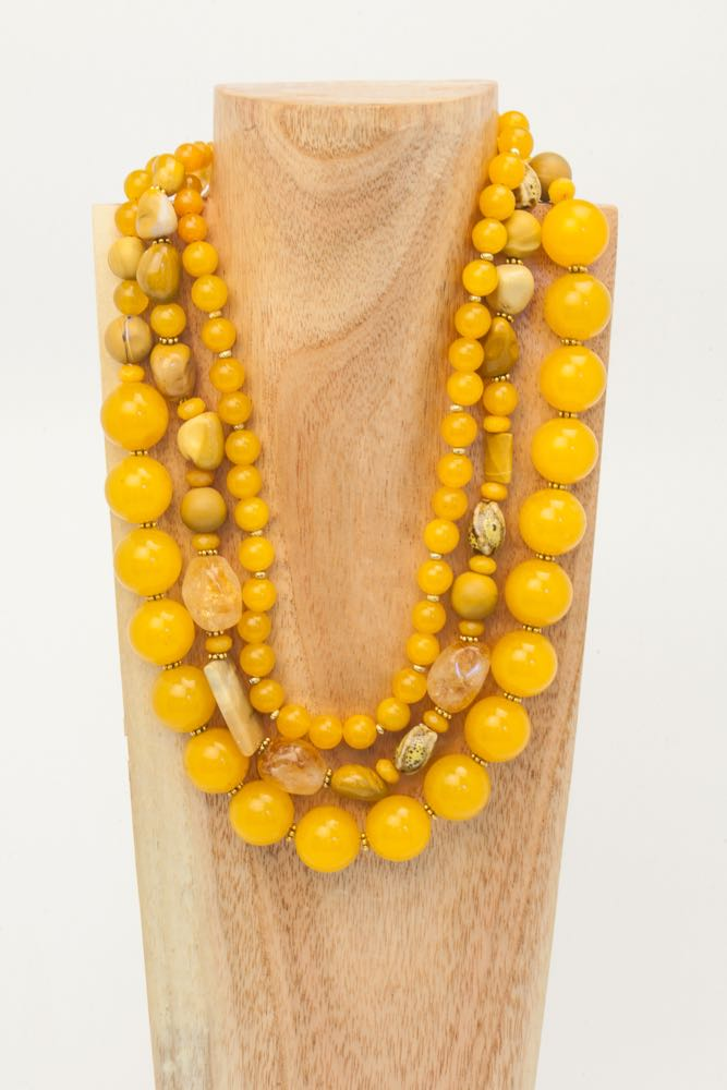 Edith - Yellow Jade Necklace